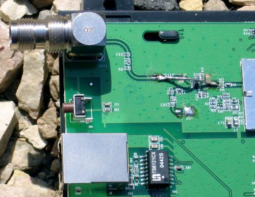 Strapp du sélecteur d'antenne