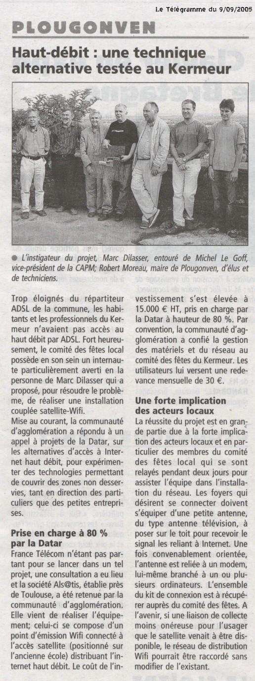 Le Télégramme (09/09/2005)